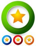Étoile dans une icône de cercle Dessins de vecteur photographie stock