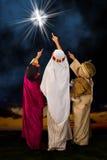 Étoile de Bethlehem et de wisemen Photos stock