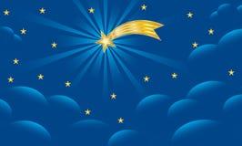 Étoile de Bethlehem - fond de Noël Image stock