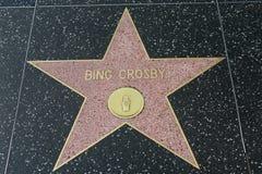 Étoile de Bing Crosby sur la promenade de Hollywood de la renommée photographie stock