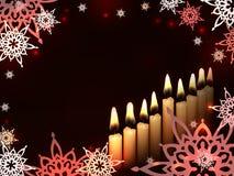 Étoile de bougies de Hanoucca Images libres de droits