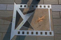 Étoile de Bruce Lee photos libres de droits