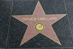 Étoile de Carmen Cavallaro sur la promenade de Hollywood de la renommée photo libre de droits