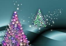 Étoile de carte de Noël de sapin Image stock