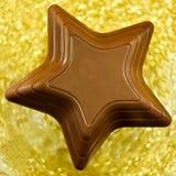 Étoile de chocolat Images stock