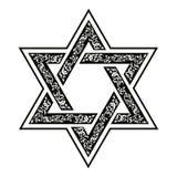 Étoile de David illustration de vecteur