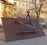 Étoile de David au mémorial d'holocauste, Bucarest, Roumanie Image libre de droits