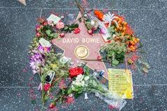 Étoile de David Bowie de musicien et de compositeur sur la promenade de Hollywood de la renommée à Los Angeles, CA image stock