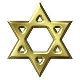 Étoile de David d'or Photos libres de droits