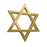 Étoile de David d'or Photographie stock libre de droits