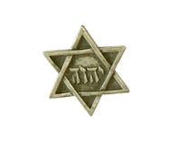Étoile de David d'isolement sur le fond blanc Photos libres de droits