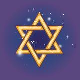 Étoile de David pour le hanuka illustration stock