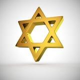 Étoile de David religieuse Images libres de droits