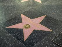 Étoile de directeur d'Oliver Stone sur la promenade de Hollywood de la renommée photo stock