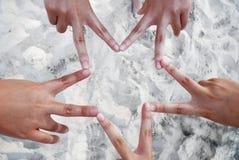 étoile de doigt Photos stock