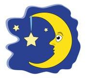 Étoile de fixation de lune Photographie stock libre de droits