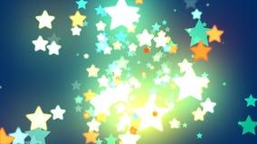 Étoile de fond bleu Image stock
