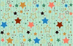 Étoile de fond coloré Photos libres de droits
