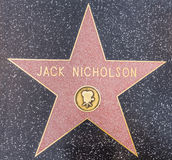 Étoile de Jack Nicholson, Hollywood Image stock