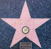 Étoile de Jennifer Lopez Image stock