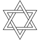 Étoile de judaïsme de David Icon Vector Symbol Israel Photo stock