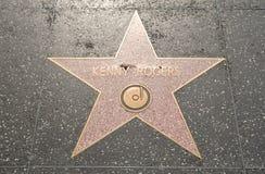 Étoile de Kenny Rogers sur le boulevard Photos libres de droits