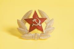 Étoile de l'URSS de Soviétique et guirlande de laurier Images libres de droits