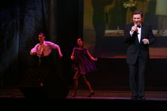 Étoile de la musique russe et soviétique, le favori de foule, un chanteur de scintillement, chanteur Edward Hil (M. Trololo) Photographie stock libre de droits