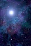 Étoile de nébuleuse de l'espace Photo libre de droits