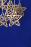 Étoile de Noël d'or Image stock