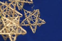 Étoile de Noël d'or Image libre de droits