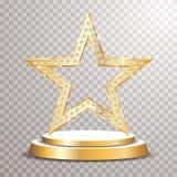 Étoile de podium d'or illustration stock