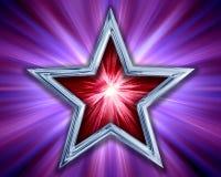 étoile de pourpre de fond Image libre de droits