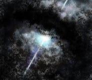 Étoile de pulsar dans le tore de la poussière Illustration Libre de Droits