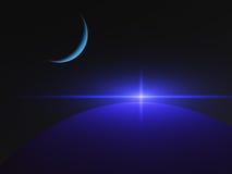 Étoile de quasar de planètes Photographie stock