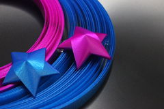 Étoile de ruban Images stock