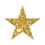 Étoile de scintillement d'or Élément de luxe de conception de sparcle d'or Particules ambres Images stock