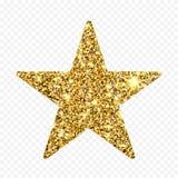 Étoile de scintillement d'or Sparcle d'or Particules ambres Élément de luxe de conception Photo stock
