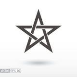 Étoile de signe noeud celtique de l'étoile 5-point pentagram Image stock