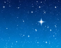Étoile de souhait lumineuse Photographie stock libre de droits