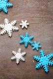 Étoile de sucre bleu et blanc pour la cuisson de Noël photo libre de droits