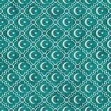 Étoile de Teal et de blanc et dos de Crescent Symbol Tile Pattern Repeat Photo stock