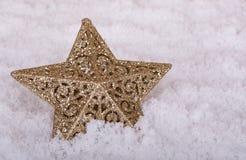 Étoile de vacances d'or Photos libres de droits
