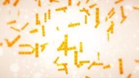 Étoile des confettis Images stock