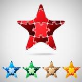 Étoile des morceaux de puzzle illustration de vecteur
