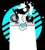 Étoile DJ - cyan Image libre de droits