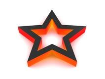 étoile du rouge 3d Image libre de droits
