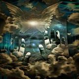 Étoile du ` s d'ange illustration de vecteur