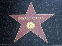 Étoile du ` s de Ronald Reagan, promenade de Hollywood de la renommée - 11 août 2017 - Hollywood Boulevard, Los Angeles, la Calif photo libre de droits