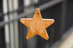 Étoile en bois photographie stock